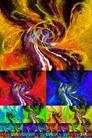 Compositions décoratives à partir de la même image déclinée en teintes différentes pour réalisations d`assemblages harmonieux par François-Régis Hoareau photographe artiste infographiste digigr
