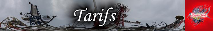 Bannière Tarifs
