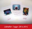 Créations de calendriers personnalisés par François-Régis Hoareau infographiste digigraphe