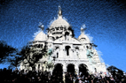 Photographies numériques Paris et La Défense dans un ballet de couleurs pour des images numériques et digigraphiques abstraites par François-Régis Hoareau photographe artiste infographiste digigraphe